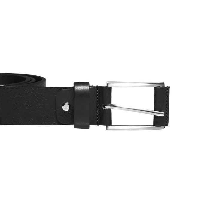 Classical leather belt bata, black , 954-6833 - 26