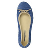 Casual leather ballerinas weinbrenner, blue , 526-9503 - 19