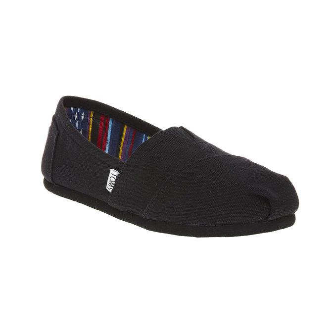 Ladies' slip-ons toms, black , 519-6004 - 13