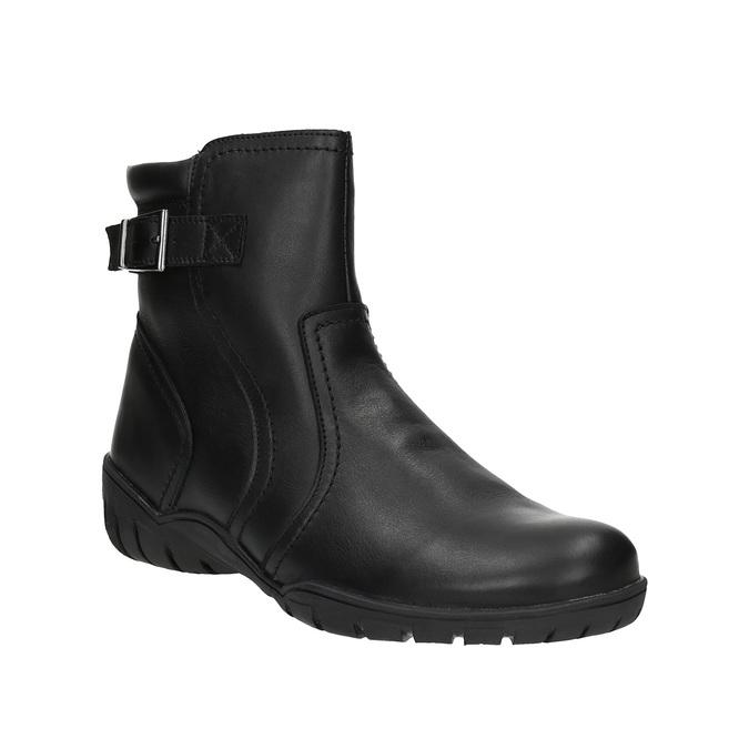Ladies' leather winter boots bata, black , 594-6347 - 13