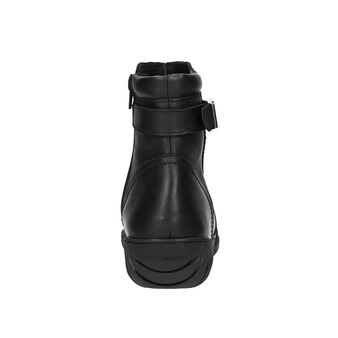 Ladies' leather winter boots bata, black , 594-6347 - 17