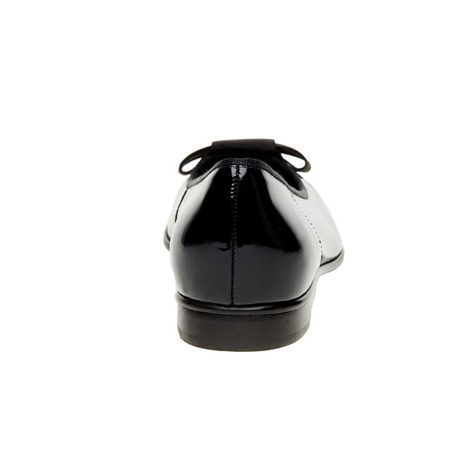 Leather ballerinas with a ribbon gabor, black , 528-6271 - 17