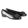 Leather ballerinas with a ribbon gabor, black , 528-6271 - 26