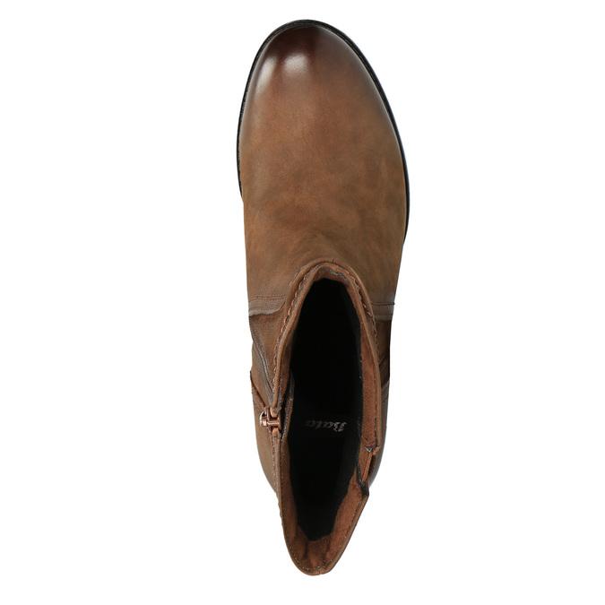 Ladies' ankle shoes bata, brown , 696-4603 - 19