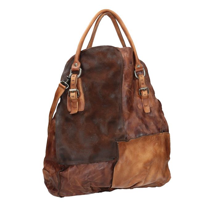 Leather handbag with rigid straps a-s-98, 966-0001 - 13