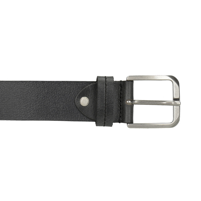 Black leather belt, black , 954-6106 - 26