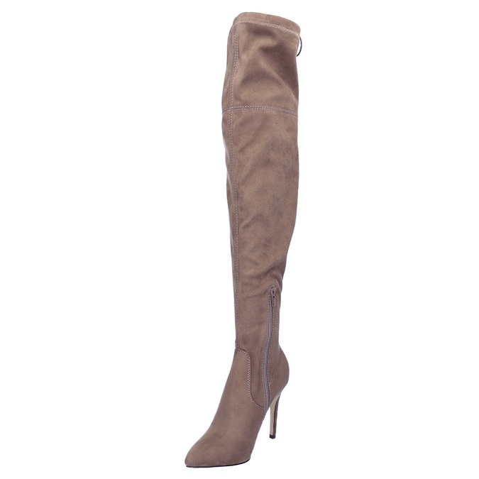 Ladies' over-knee high boots bata, brown , 799-3600 - 26