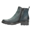 Leather ankle boots with a distinct sole bata, turquoise, 596-9615 - 26