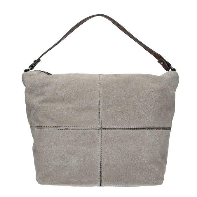 Leather Hobo-style handbag bata, gray , 963-2130 - 26