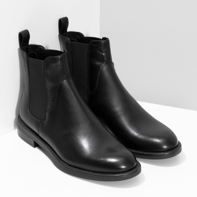 Black leather Chelsea Boots vagabond, black , 514-6007 - 26