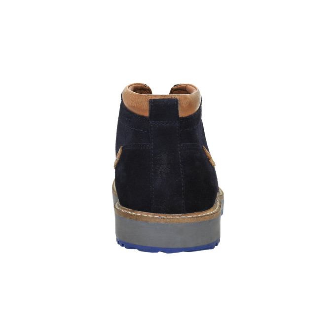 Men's shoes in the Chukka Boots style bata, blue , 893-9652 - 17