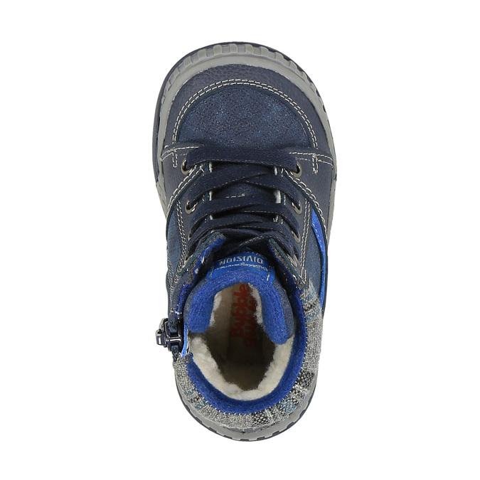 Children's insulated leather boots bubblegummer, blue , 116-9102 - 19