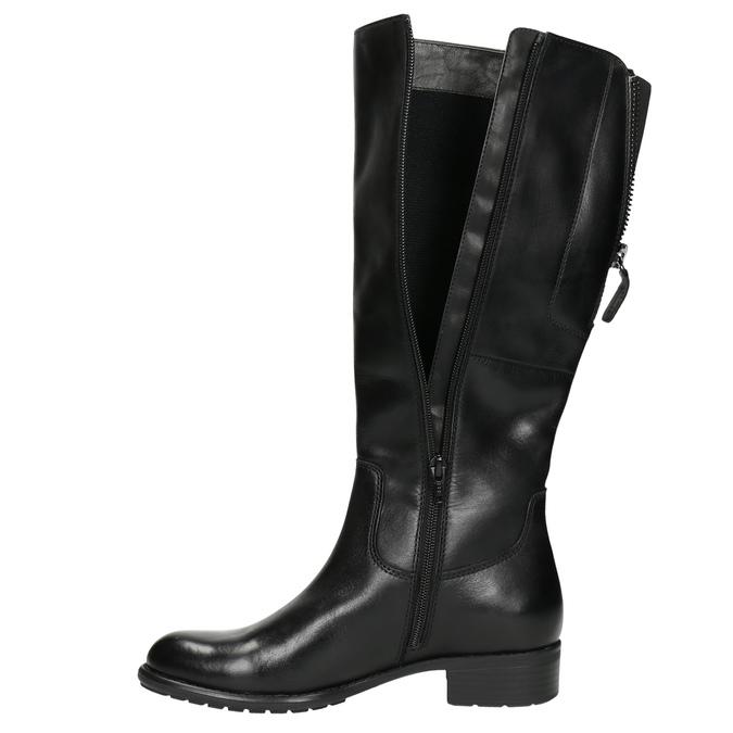 Ladies' leather Cossacks in black bata, black , 596-6604 - 26