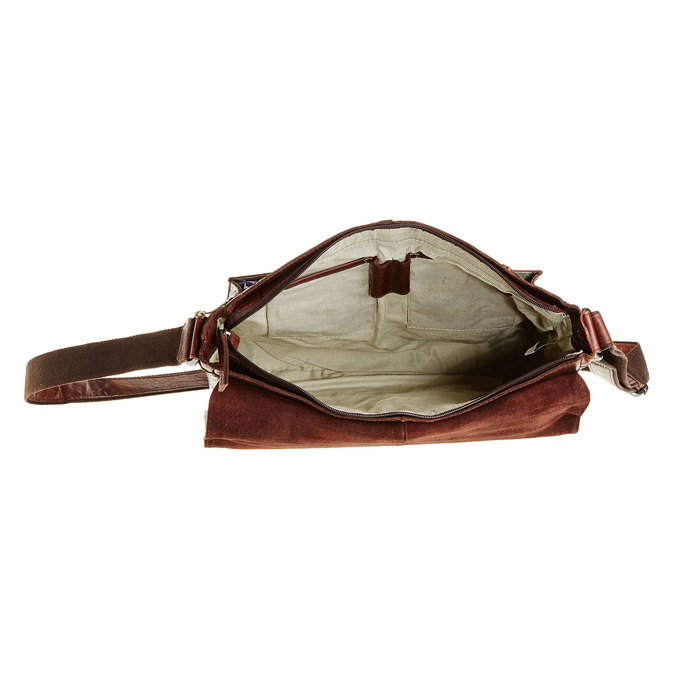 Leather bag bata, brown , 964-4178 - 15