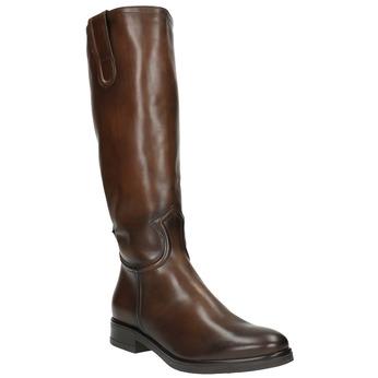 Ladies' leather Cossacks bata, brown , 596-3608 - 13
