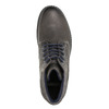 Leather ankle-cut shoes bata, gray , 894-2643 - 26