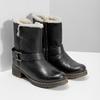 Ladies´ boots with fur bata, black , 594-6609 - 26