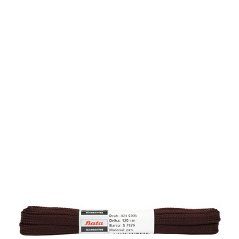 Brown flat laces bata, brown , 901-4120 - 13
