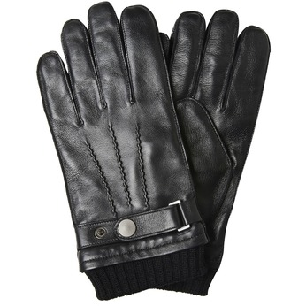 Men's leather gloves, black , 904-6127 - 13