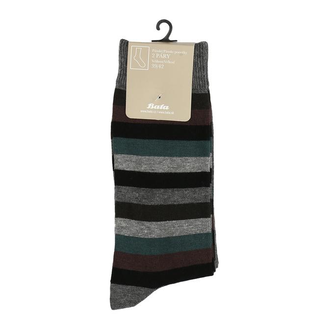 2 pairs men's socks bata, gray , 919-2411 - 13