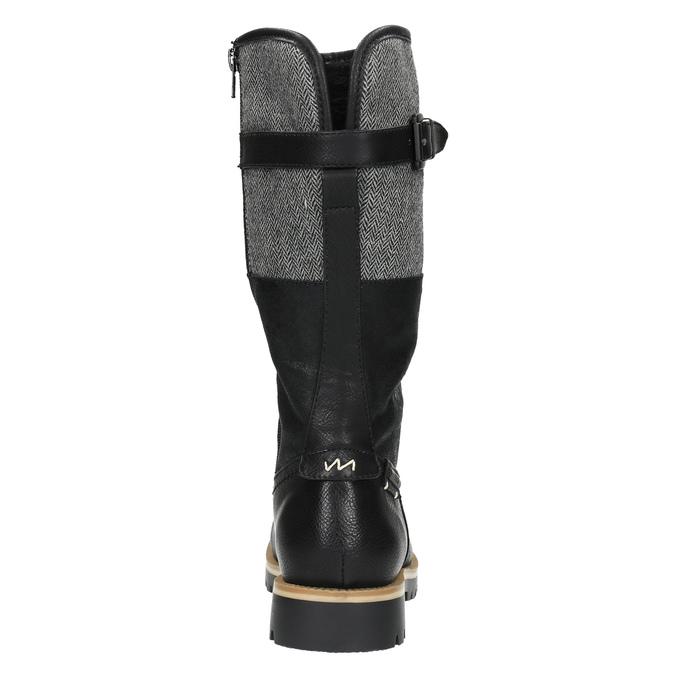 High boots with a distinctive sole bata, black , 591-6608 - 17