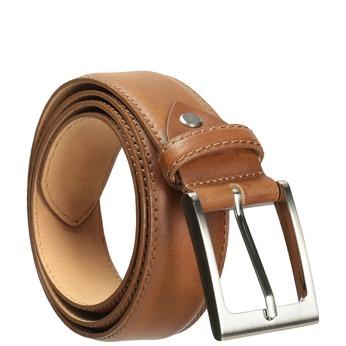 Men's brown leather belt, brown , 954-4153 - 13