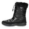Black snow boots with fur weinbrenner, black , 591-6617 - 19