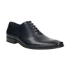 Dark-blue leather Oxford shoes bata, blue , 826-9808 - 13