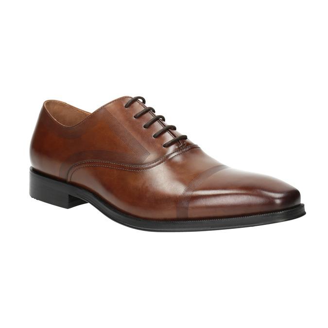 Bata Brown leather Oxford shoes   Bata