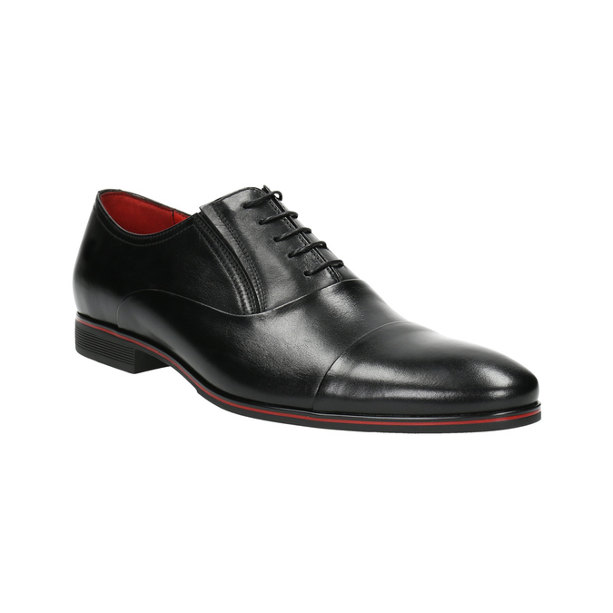 Black leather Oxford shoes conhpol, black , 824-6868 - 13