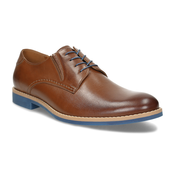 Leather shoes with a distinctive sole, brown , 824-3857 - 13