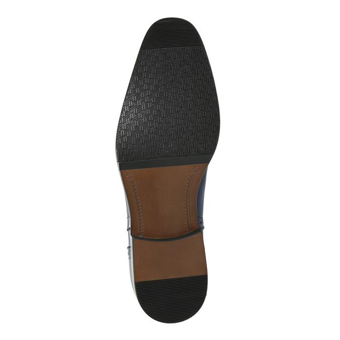 Blue leather Oxford shoes bata, blue , 826-9822 - 26
