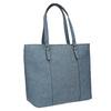 Blue handbag with perforated detail bata, blue , 961-9711 - 13