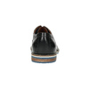 Leather shoes with striped sole bata, black , 826-6790 - 17