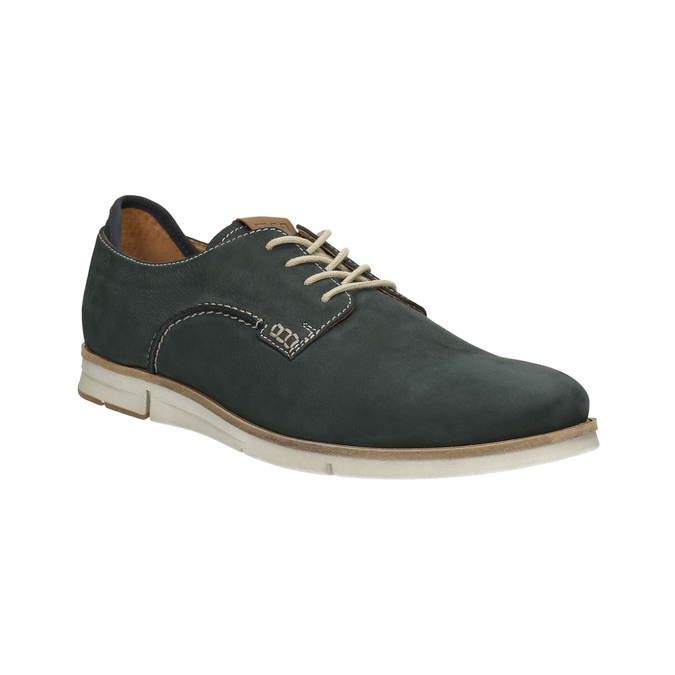 Casual leather shoes weinbrenner, blue , 846-9630 - 13