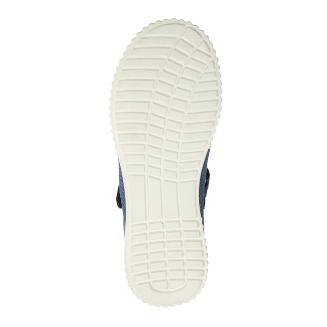 Ballerinas with an instep strap mini-b, blue , 329-9605 - 26