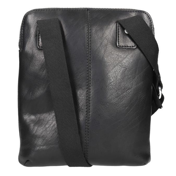 Men's leather crossbody bag bata, black , 964-6237 - 26