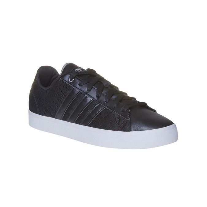 Ladies' black sneakers with lace adidas, black , 509-6195 - 13