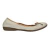 Leather ballet pumps with flexible topline bata, beige , 526-8617 - 15