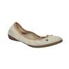 Leather ballet pumps with flexible topline bata, beige , 526-8617 - 13