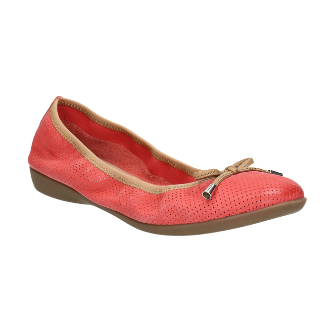 Red ballet pumps with flexible topline bata, red , 526-5617 - 13