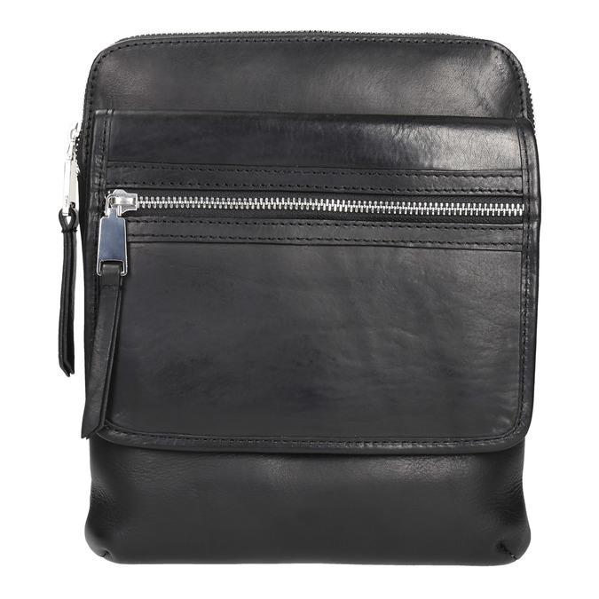 Men's leather crossbody bag bata, black , 964-6237 - 19