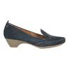 Ladies' leather H-width moccasins bata, blue , 523-9603 - 15