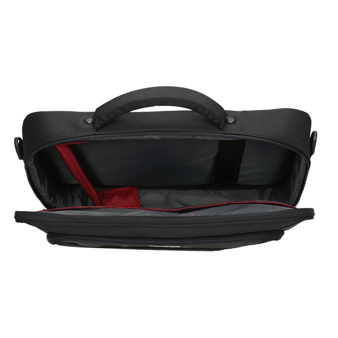 Laptop bag, black , 969-2393 - 15