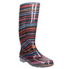 Children's wellington boots with stripes mini-b, black , 492-6112 - 13