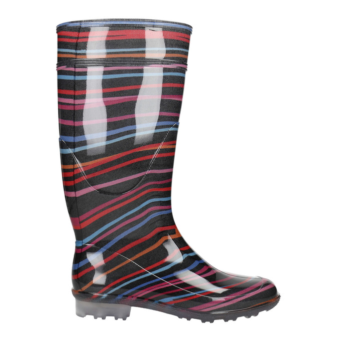Children's wellington boots with stripes mini-b, multicolor, 492-6112 - 15