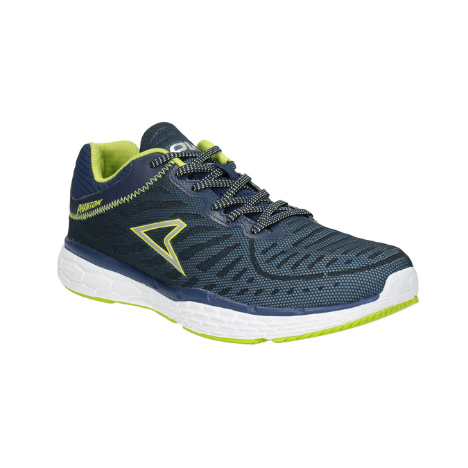Sport sneakers with a pattern power, blue , 809-9155 - 13
