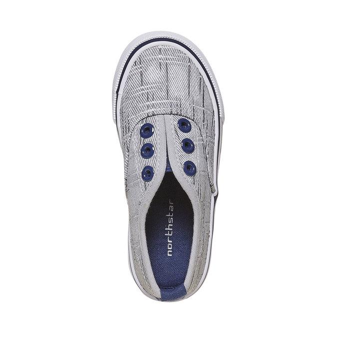Children's slip-on shoes north-star, gray , 219-2154 - 19