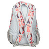Backpack with coloured pattern roxy, gray , 969-2071 - 26