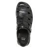 Men's black leather sandals bata, black , 864-6600 - 17
